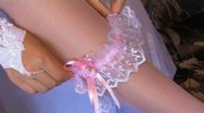 Bridal garter Stock Footage
