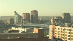 Roebling suspension bridge Stock Footage
