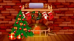 Christmas theme background - stock footage