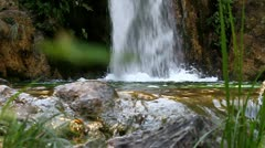 Waterfall at Mount Olympus the Home of Gods,  Greece (low) Stock Footage