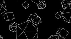 platonisch cubes - stock footage