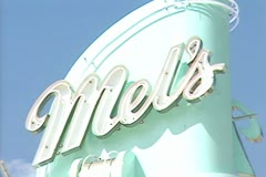 Mel's Drive-in diner Stock Footage