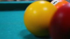 Billiard game close-up - timelapse Stock Footage