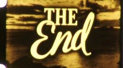 THE END Vintage 8mm Film Leader Title Graphic Card Ending Film Finish Loop 1060 Stock Footage