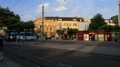 Heidelberg Bismarck square traffic Stock Footage