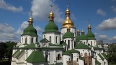 Saint Sophia Cathedral, Kiev, Monument of Kievan Rus, Unesco World Heritage Stock Footage