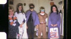 Kids Children Halloween Costumes Trick or Treat 60s Vintage Film Home Movie 1065 Stock Footage