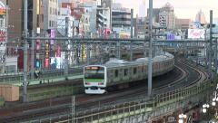 Trains 2 - Tokyo Japan - stock footage