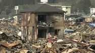 Stock Video Footage of Japan Tsunami Aftermath - Burnt Out Wasteland In Kesennuma City