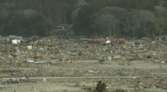 Stock Video Footage of Japan Tsunami Aftermath - Remains Of Destroyed Downtown Rikuzentakata City
