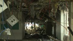 Japan Tsunami Aftermath - Remains Of Destroyed Hospital In Rikuzentakata City - stock footage
