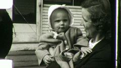 Mother and Baby Circa 1942 (Vintage 8mm Home Movie Footage) 1081 Stock Footage