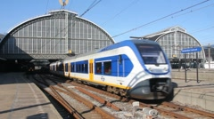 Amsterdam Central Station Stock Footage
