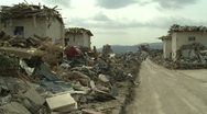 Stock Video Footage of Japan Tsunami Aftermath - Destruction In Downtown Rikuzentakata City
