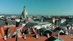 Dresden Skyline, East Germany Stock Footage
