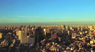 Stock Video Footage of City Aerial View 9 - Colorful