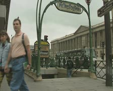Entrance to Metropolitain Stock Footage