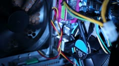 Computer system unit Stock Footage