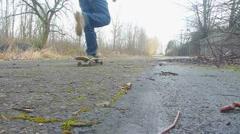 Apocalypse Skateboarder 1 Stock Footage