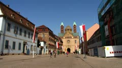 Speyer Imperial Cathedral Basilica of the Assumption and St Stephen, Stock Footage