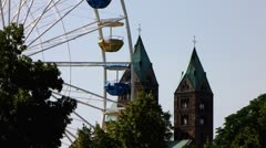 Summer carnival festival in Speyer Stock Footage