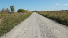 Country road. - stock footage