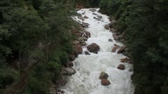 River rapids in Himalaya mountains, Sikkim, India Stock Footage