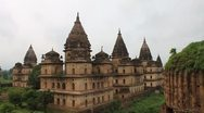 Cenotaphs in Orchha Stock Footage