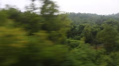 Scene from moving train,North India - stock footage
