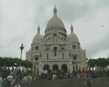 View of Basilica of the Sacred Heart Stock Footage