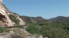 WorldClips-Canyon Road-zoom Stock Footage
