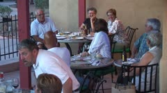 WorldClips-Patio Diners-2 Stock Footage