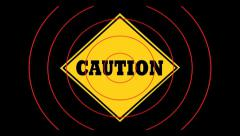 Caution sign Stock Footage