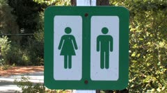 Restrooms Sign 2 Stock Footage