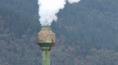 Smoke Stack On HWY Stock Footage