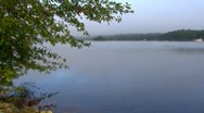 Stock Video Footage of Misty Morning Lake