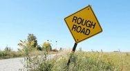 Rough road. Stock Footage