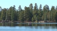 Stock Video Footage of WorldClips-Pinetop Lake and Rowboat-xws