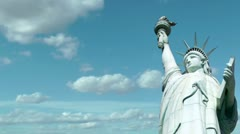 Stock Video Footage of Statue of Liberty Time Lapse