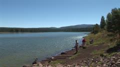 WorldClips-Pinetop Lakeside Fishing-xws Stock Footage