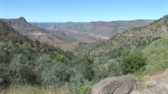 WorldClips-Salt River Canyon-zoom in Stock Footage