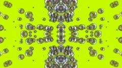 Float quicksilver liquuid shaped flower fancy,mercury blisters,splash metal bub Stock Footage