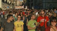 Protest March 1 in Rome 15 Oct 2011 Stock Footage