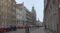 Old Town in Gdansk, Poland Stock Footage