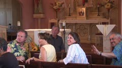 WorldClips-Tubac Church Lecture-ws Stock Footage
