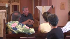 WorldClips-Tubac Church Lecture Stock Footage