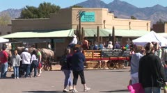 WorldClips-Tubac Fair Carriages-pan Stock Footage