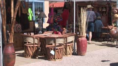 WorldClips-Tubac Fair Furniture-zoom Stock Footage