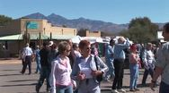 WorldClips-Tubac Fair People-cu Stock Footage