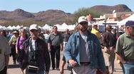 WorldClips-Tubac Fair People-Mountains-cu Stock Footage